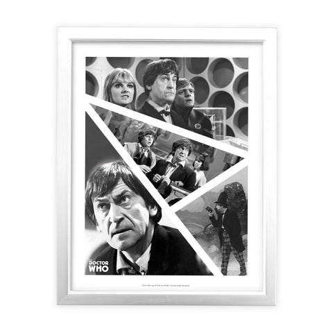 Second Doctor Photographic White Framed Art Print