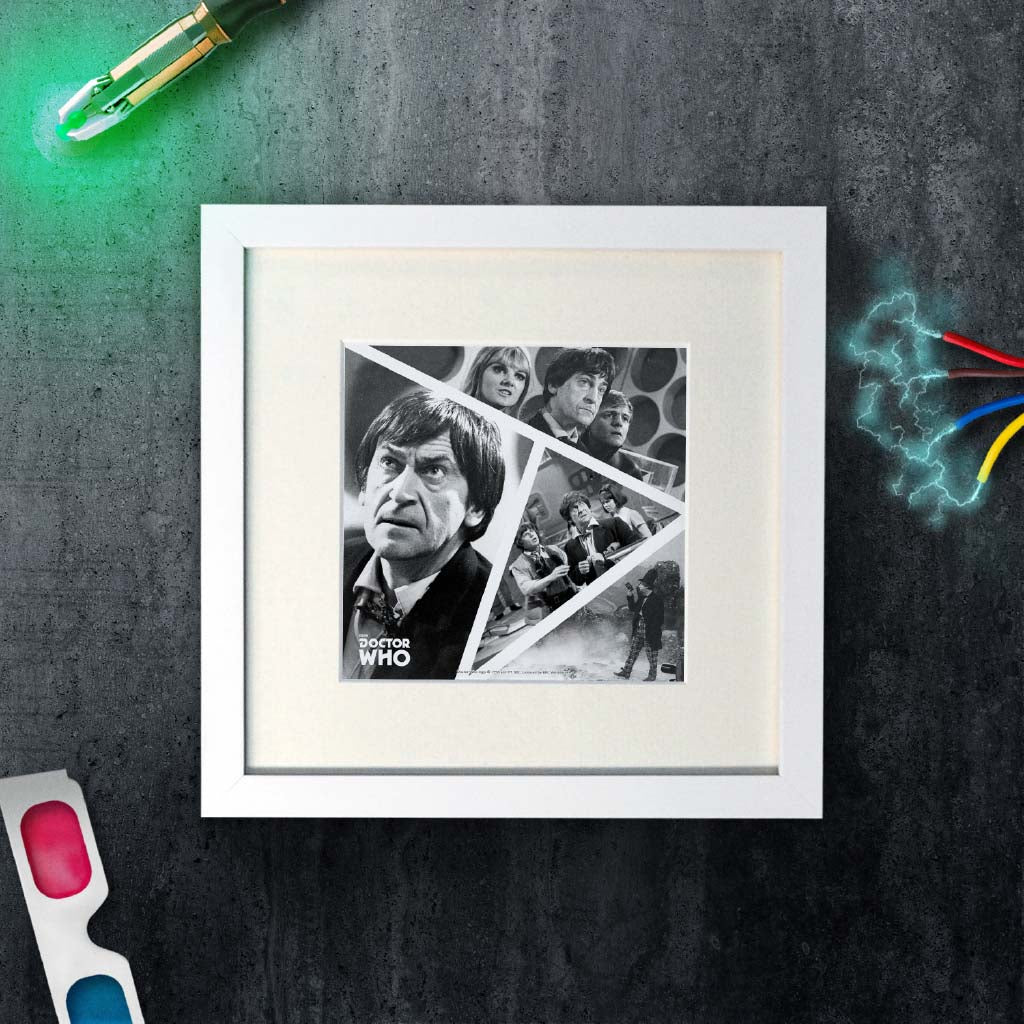 Second Doctor Photographic Square White Framed Art Print (Lifestyle)
