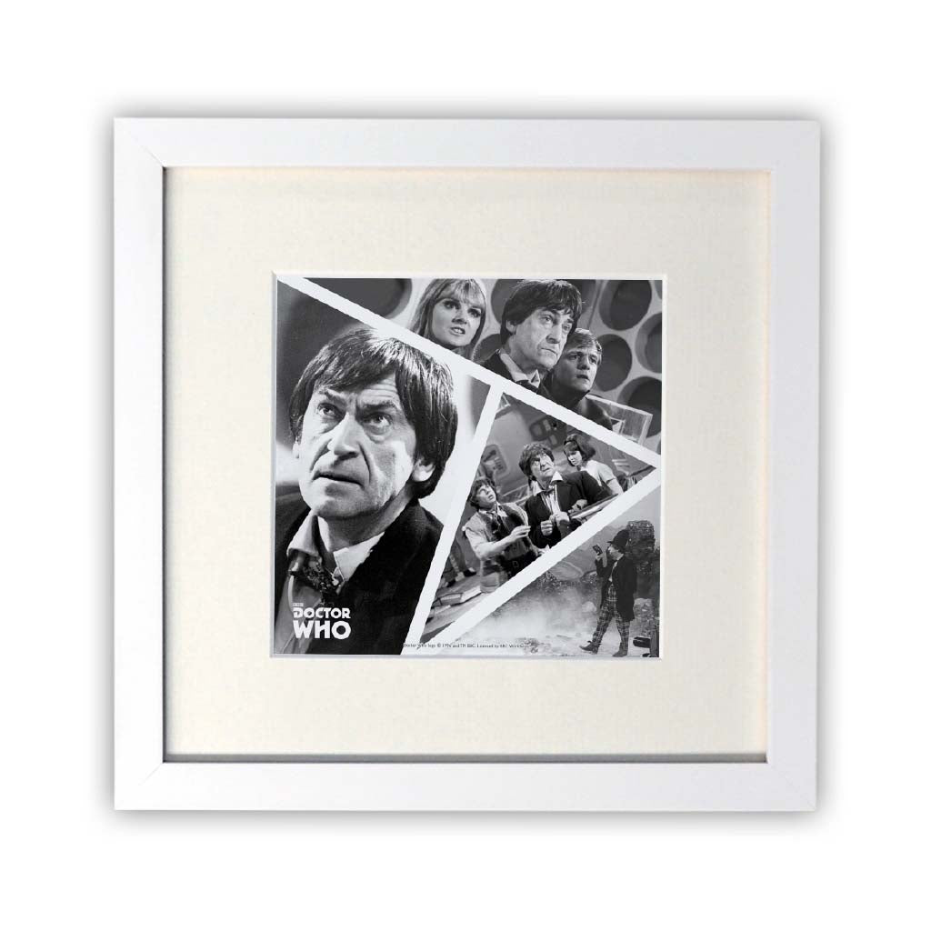 Second Doctor Photographic Square White Framed Print