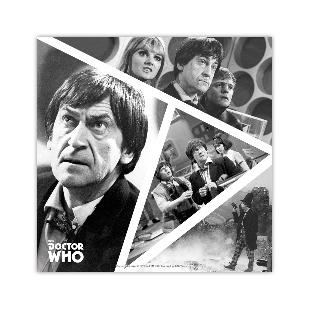 Second Doctor Photographic Square Art Print