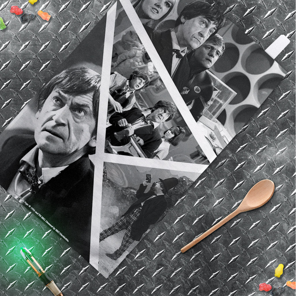 Second Doctor Photographic Tea Towel (Lifestyle)