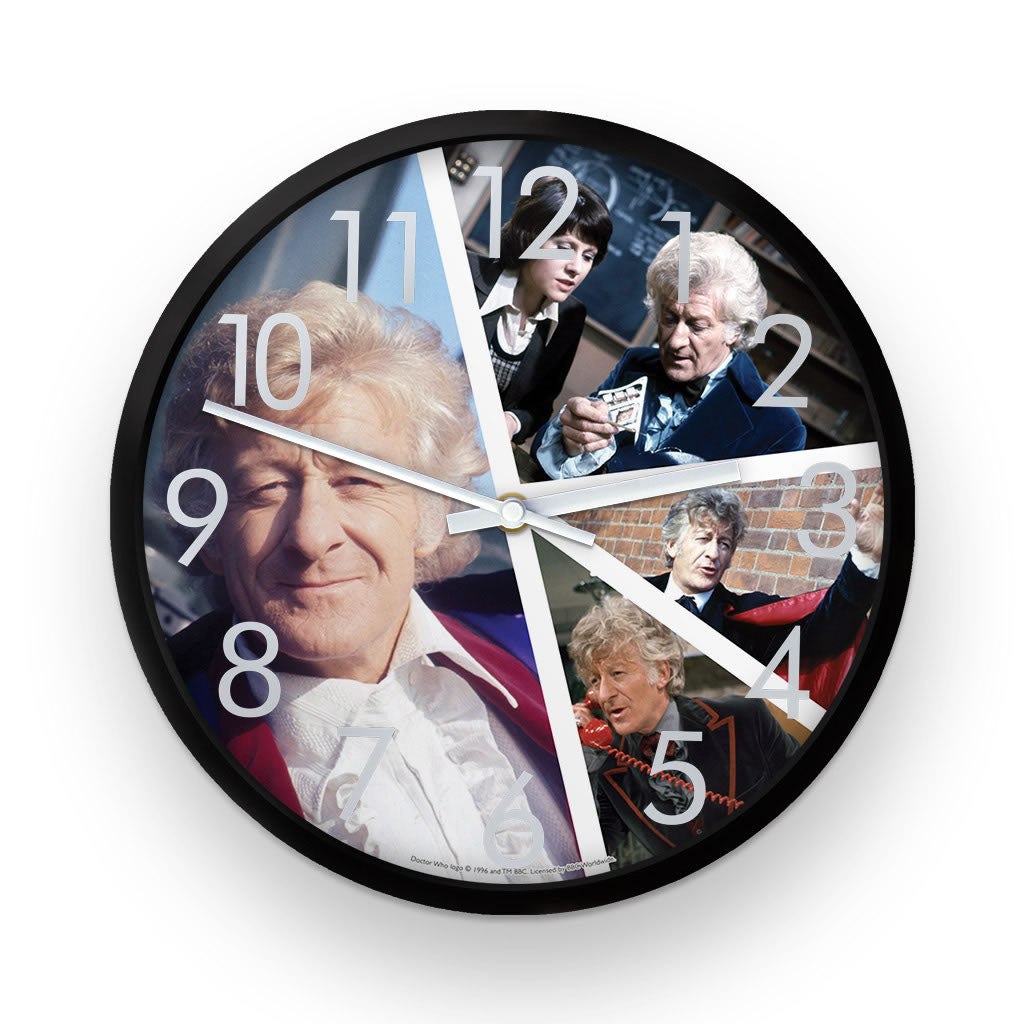 Third Doctor Photographic Clock