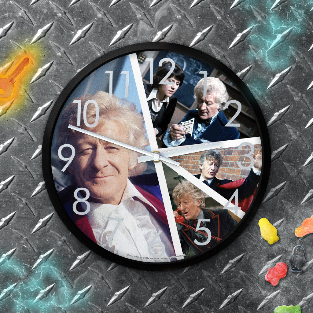Third Doctor Photographic Clock (Lifestyle)