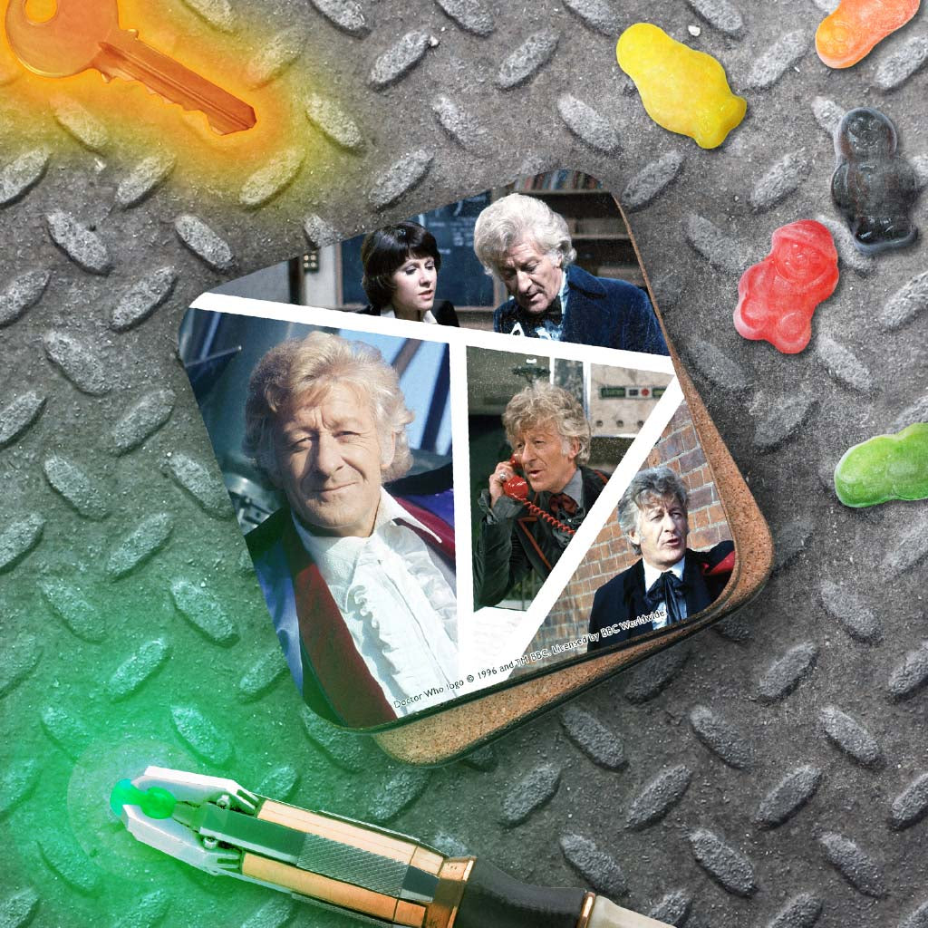 Third Doctor Photographic Coaster (Lifestyle)