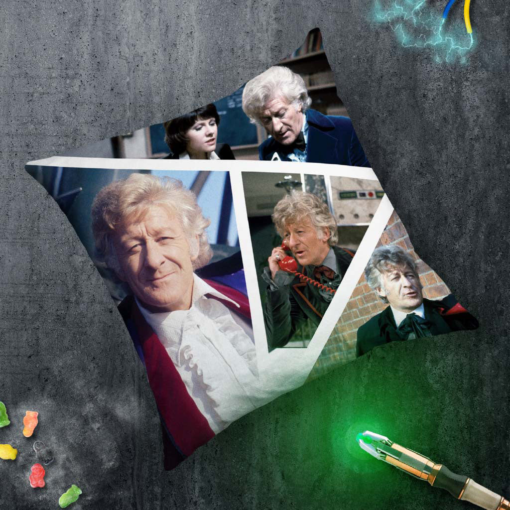 Third Doctor Photographic Cushion (Lifestyle)