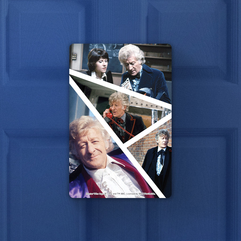 Third Doctor Photographic Door Plaque (Lifestyle)