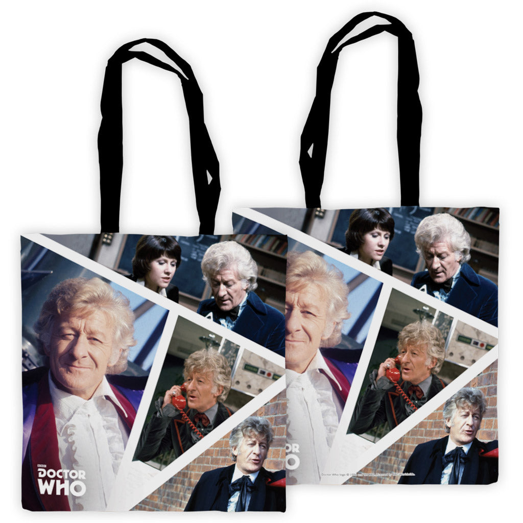 Third Doctor Photographic Edge to Edge Tote
