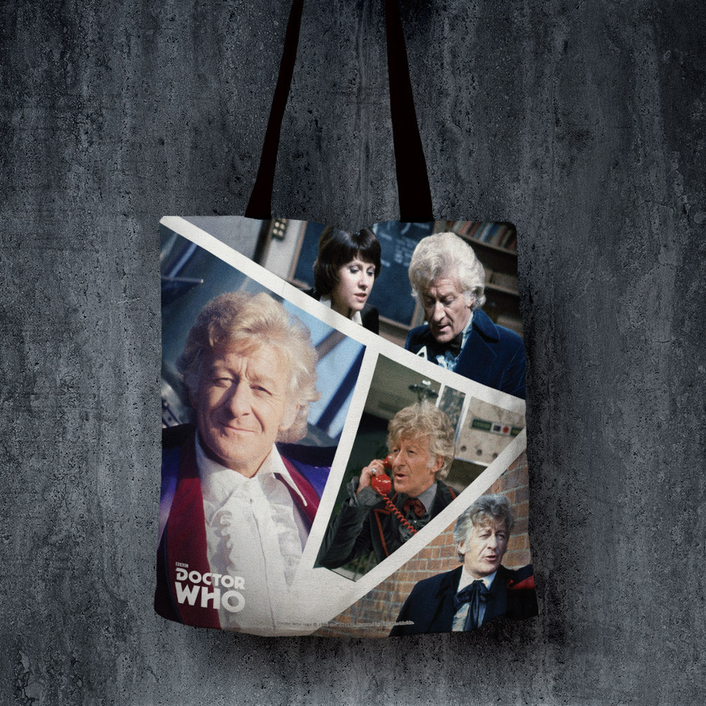 Third Doctor Photographic Edge to Edge Tote (Lifestyle)