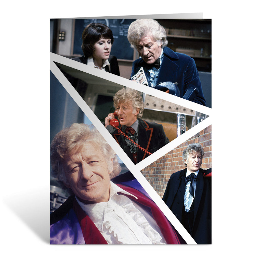 Third Doctor Photographic Greeting Card