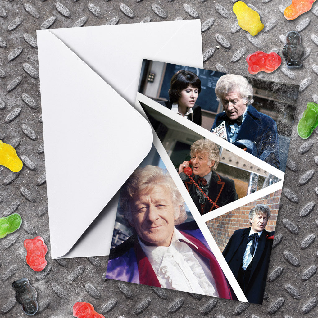 Third Doctor Photographic Greeting Card (Lifestyle)