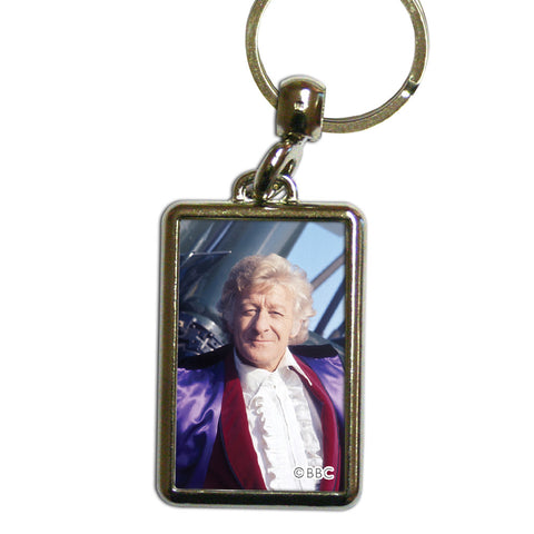 Third Doctor Photographic Metal Keyring