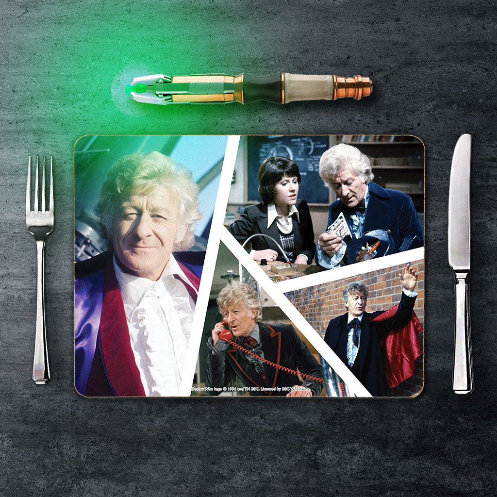 Third Doctor Photographic Placemat (Lifestyle)