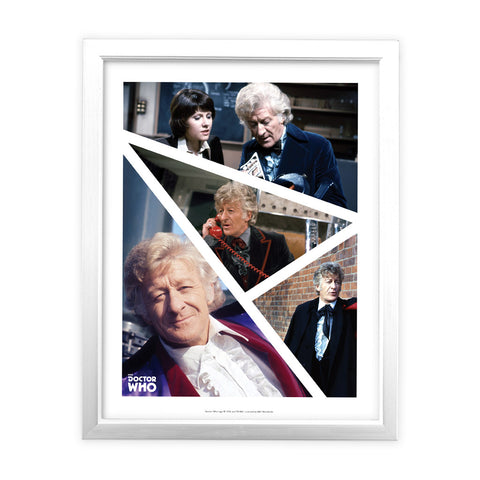 Third Doctor Photographic White Framed Art Print