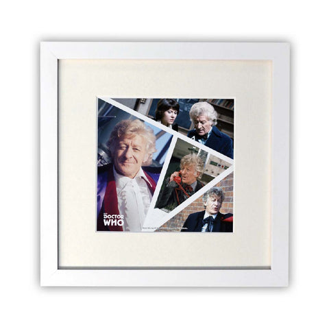 Third Doctor Photographic Square White Framed Print