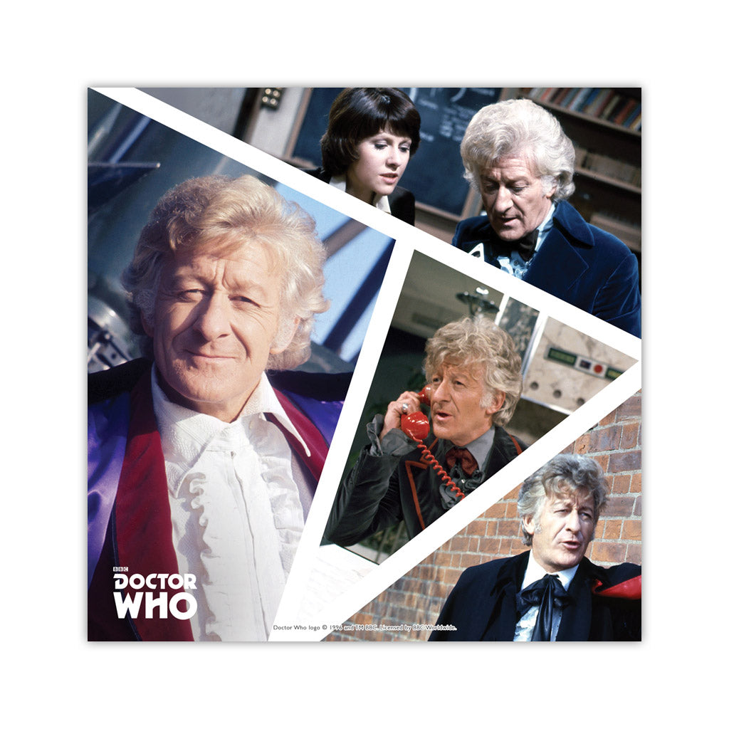 Third Doctor Photographic Square Art Print