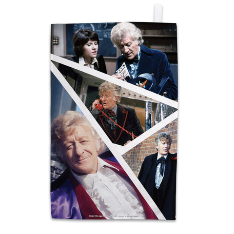 Third Doctor Photographic Tea Towel