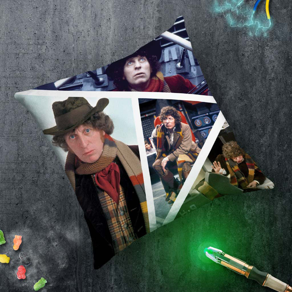 Fourth Doctor Photographic Cushion (Lifestyle)