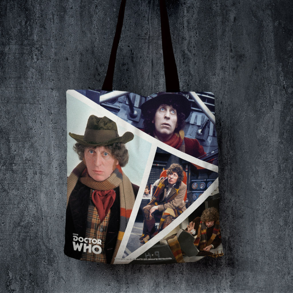 Fourth Doctor Photographic Edge to Edge Tote (Lifestyle)