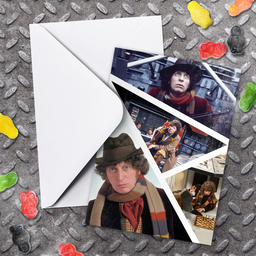 Fourth Doctor Photographic Greeting Card (Lifestyle)