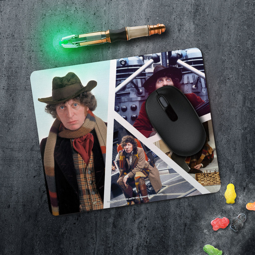 Fourth Doctor Photographic Mousemat (Lifestyle)