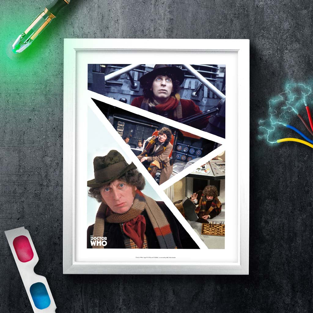 Fourth Doctor Photographic White Framed Art Print (Lifestyle)