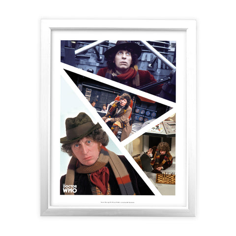 Fourth Doctor Photographic White Framed Art Print