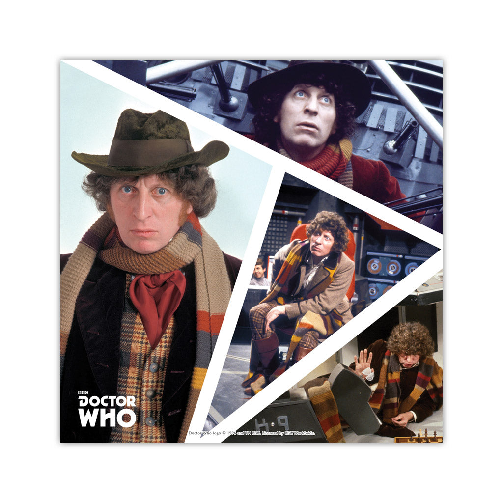Fourth Doctor Photographic Square Art Print