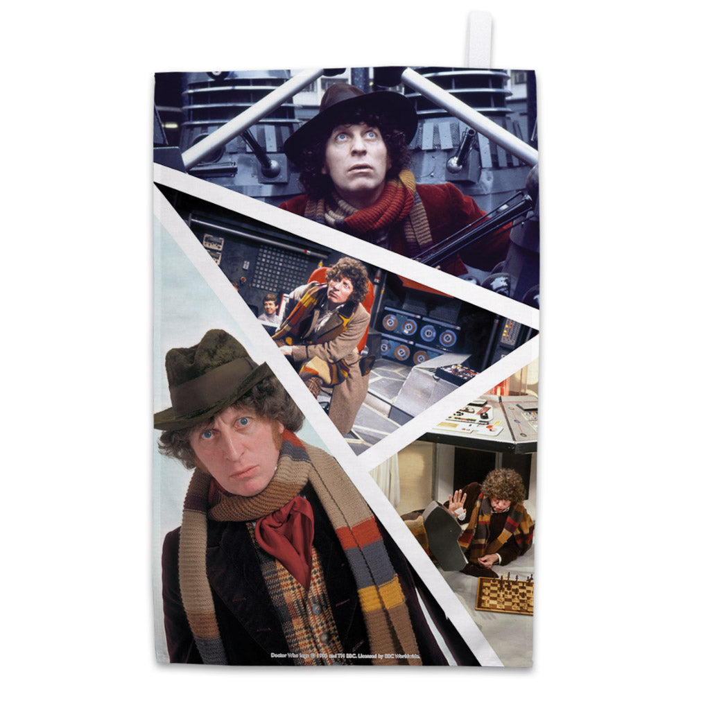 Fourth Doctor Photographic Tea Towel