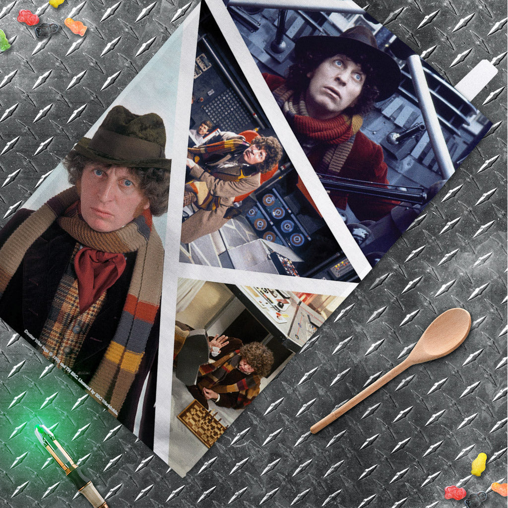 Fourth Doctor Photographic Tea Towel (Lifestyle)