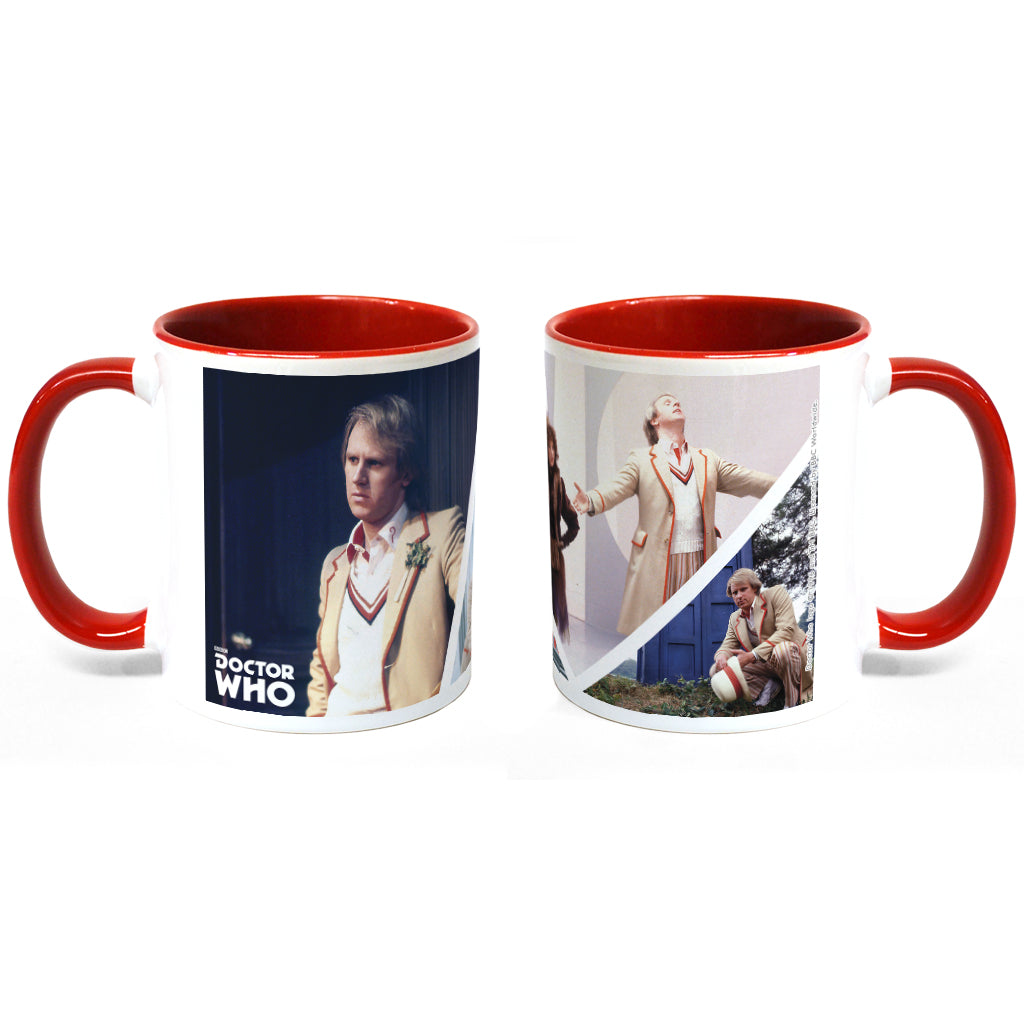 Fifth Doctor Photographic Colour Insert Mug