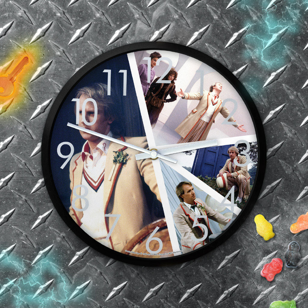 Fifth Doctor Photographic Clock (Lifestyle)
