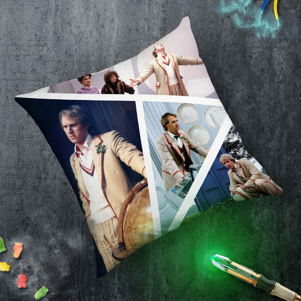 Fifth Doctor Photographic Cushion (Lifestyle)