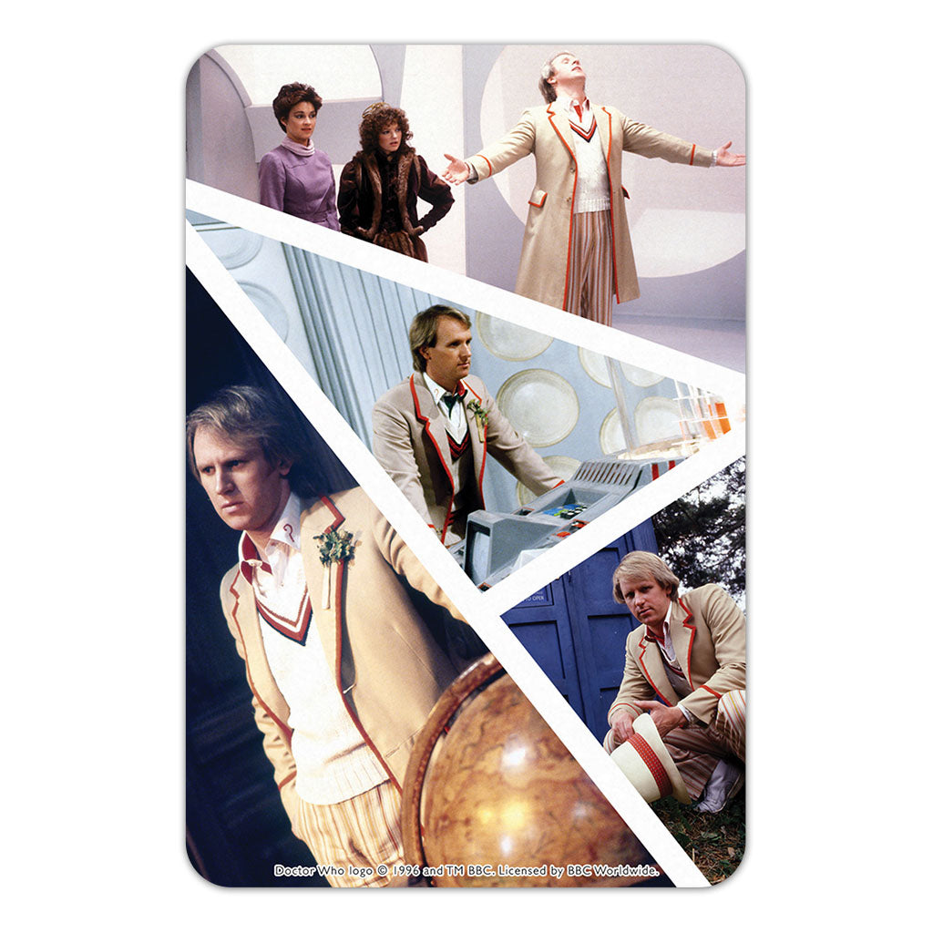 Fifth Doctor Photographic Door Plaque