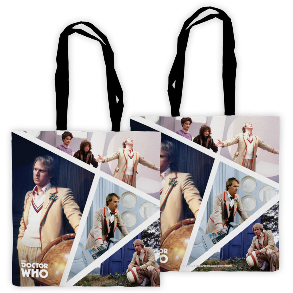 Fifth Doctor Photographic Edge to Edge Tote