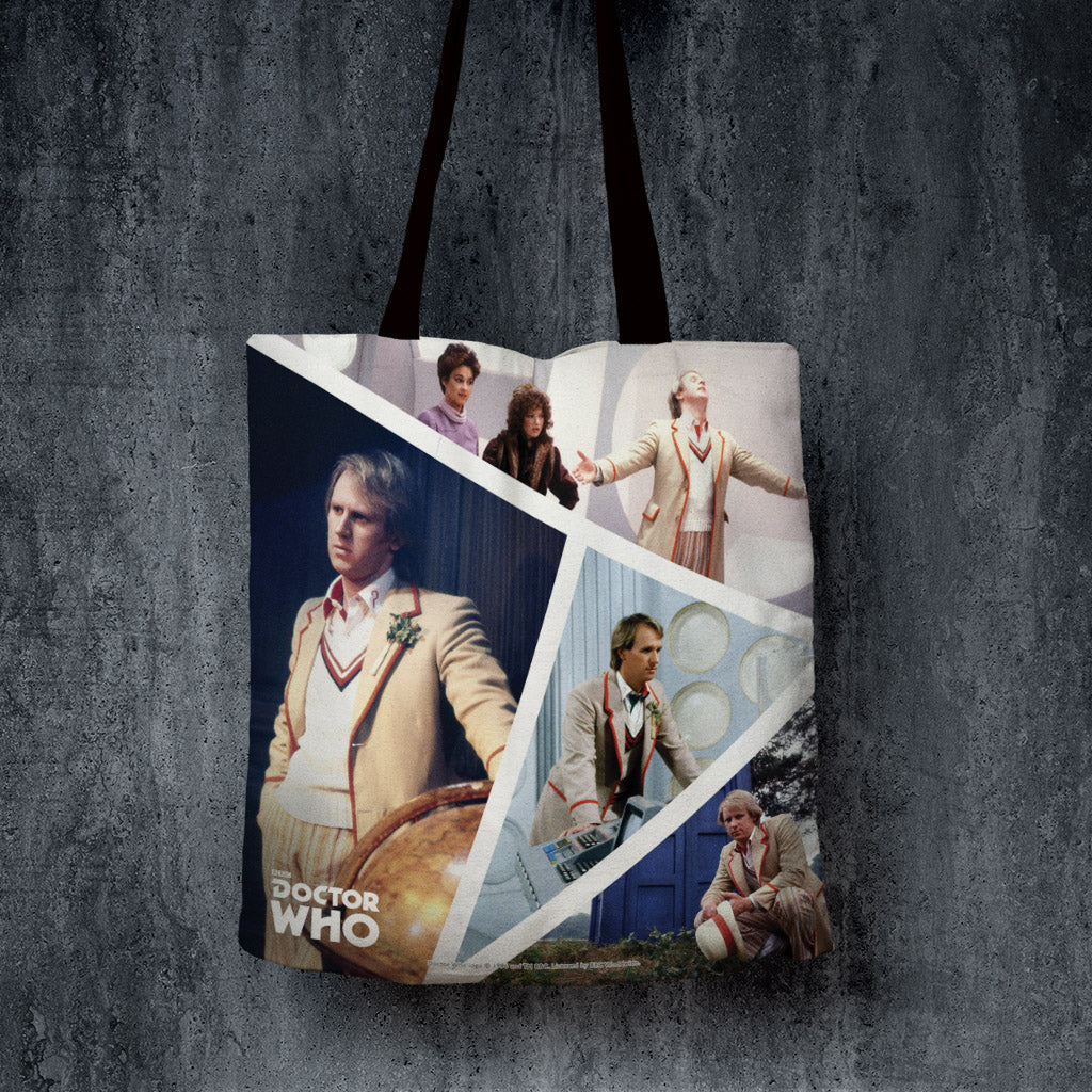 Fifth Doctor Photographic Edge to Edge Tote (Lifestyle)