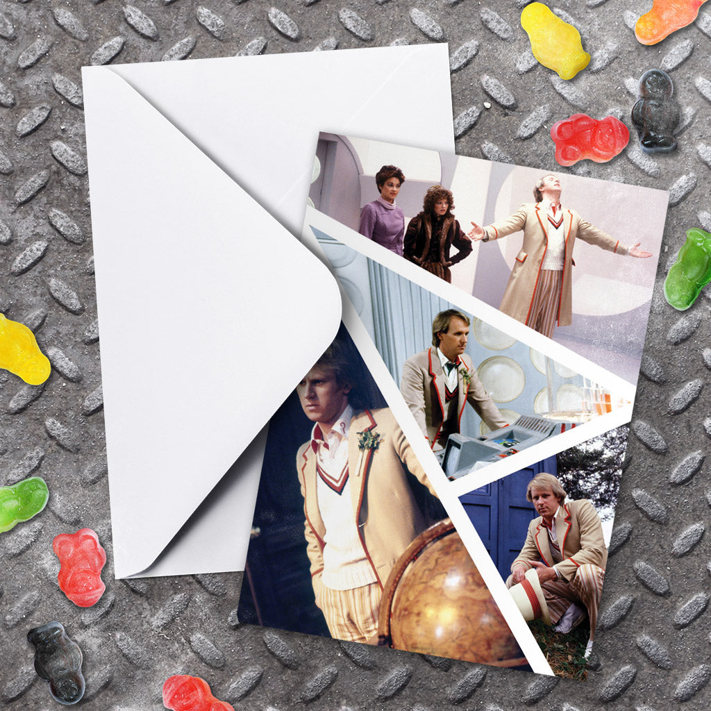 Fifth Doctor Photographic Greeting Card (Lifestyle)
