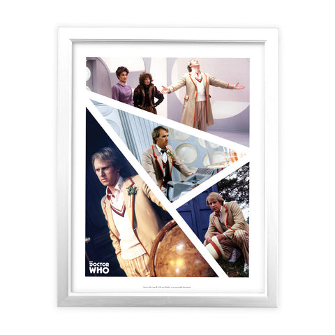 Fifth Doctor Photographic White Framed Art Print