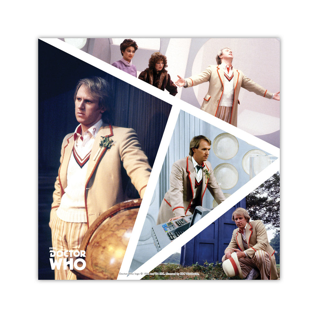 Fifth Doctor Photographic Square Art Print