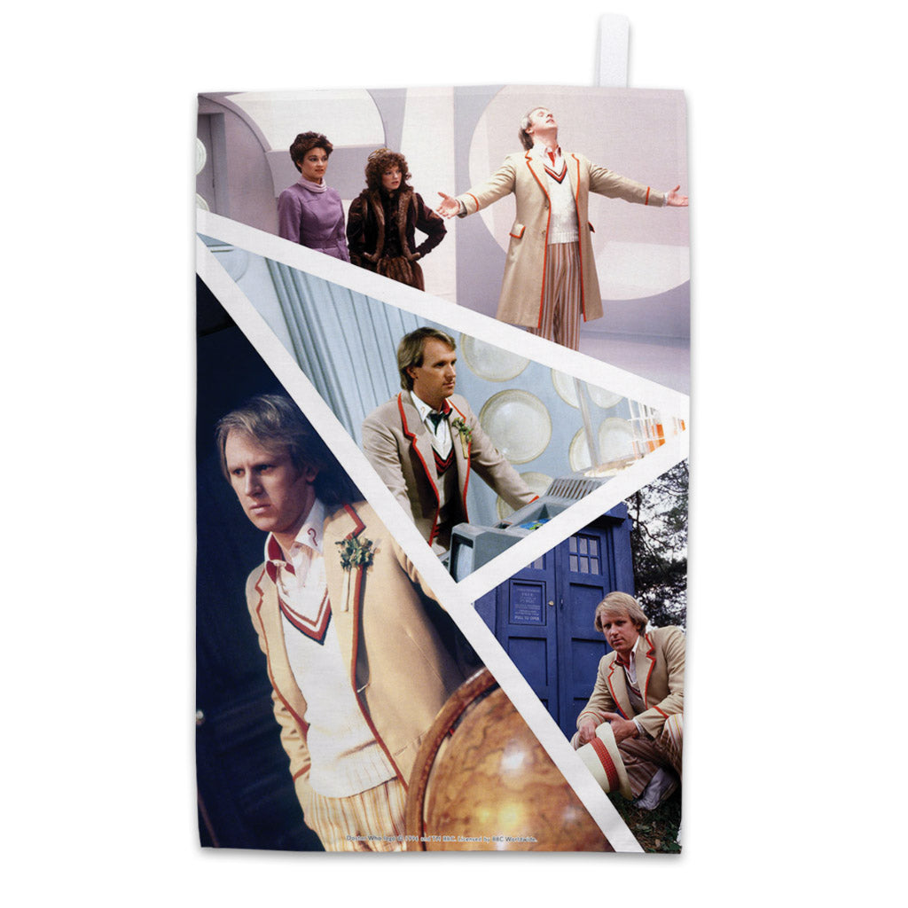 Fifth Doctor Photographic Tea Towel
