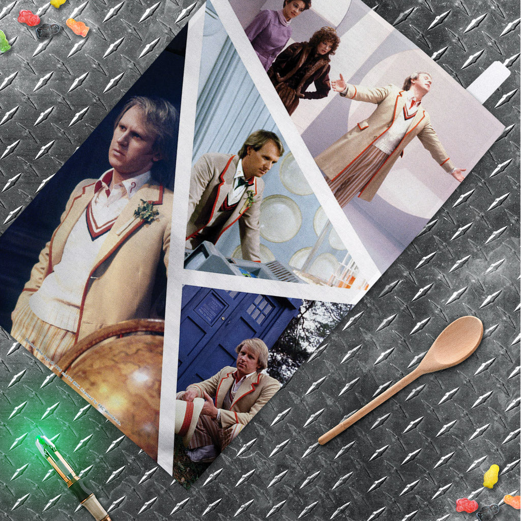 Fifth Doctor Photographic Tea Towel (Lifestyle)