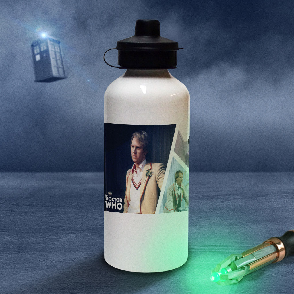 Fifth Doctor Photographic Water Bottle (Lifestyle)