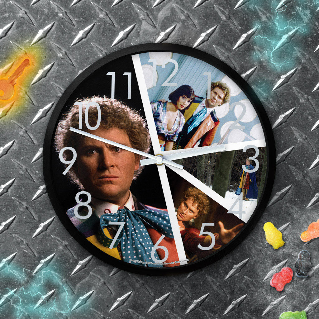 Sixth Doctor Photographic Clock (Lifestyle)