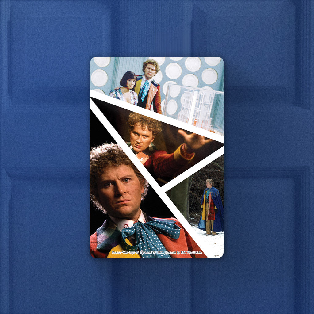 Sixth Doctor Photographic Door Plaque (Lifestyle)