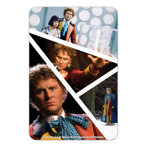 Sixth Doctor Photographic Door Plaque