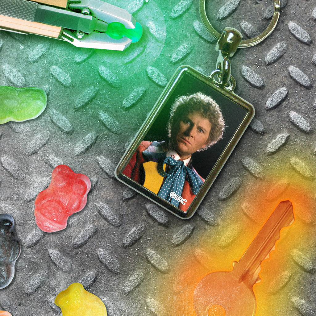 Sixth Doctor Photographic Metal Keyring (Lifestyle)