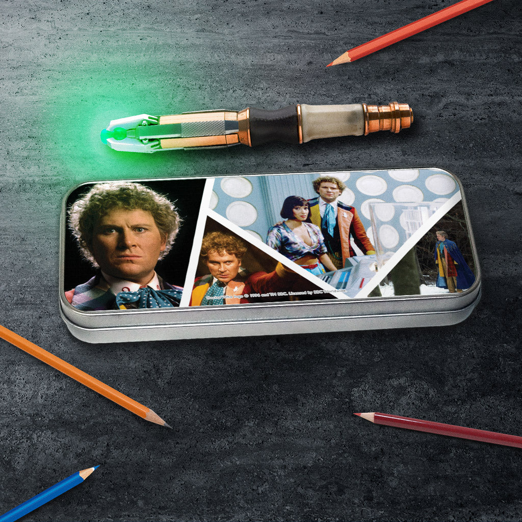 Sixth Doctor Photographic Pencil Tin (Lifestyle)