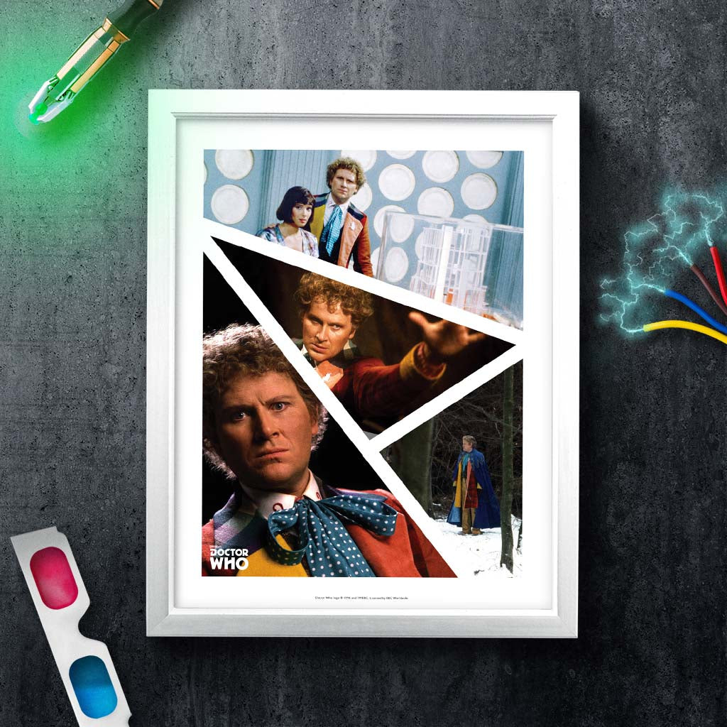Sixth Doctor Photographic White Framed Art Print (Lifestyle)