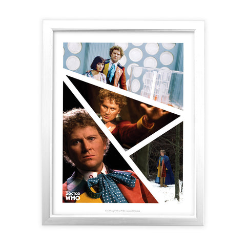 Sixth Doctor Photographic White Framed Art Print
