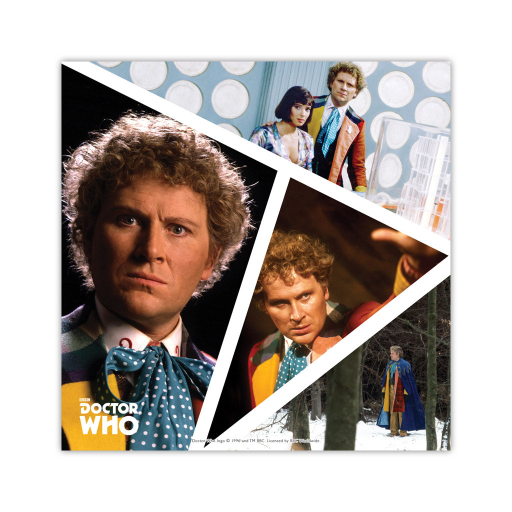 Sixth Doctor Photographic Square Art Print