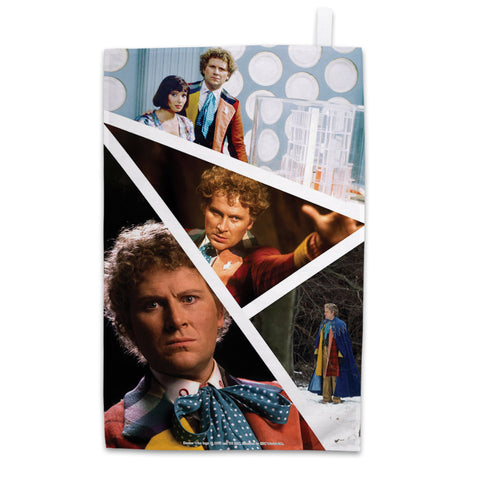 Sixth Doctor Photographic Tea Towel